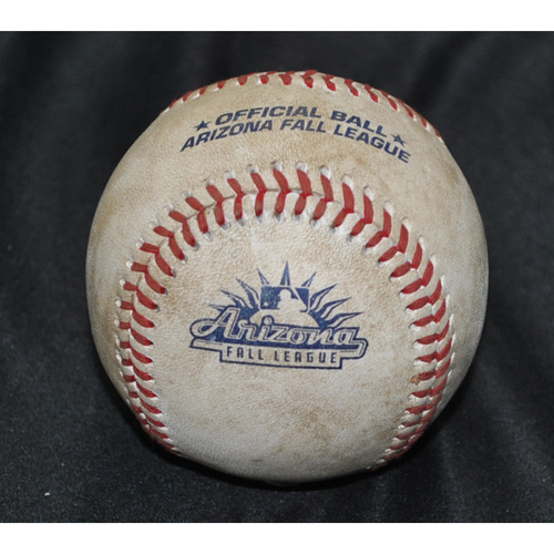 Photo of Game-Used Baseball: 2019 Arizona Fall League - Pitcher: Daniel Lynch (KC), Batter: Ronaldo Hernandez (TB) - Double - Top 2 - 10/26/2019