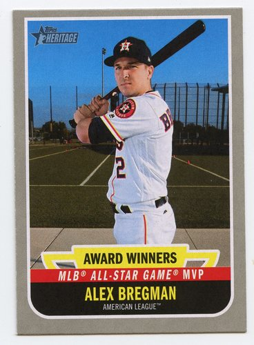 Photo of 2019 Topps Heritage Award Winners #AW8 Alex Bregman