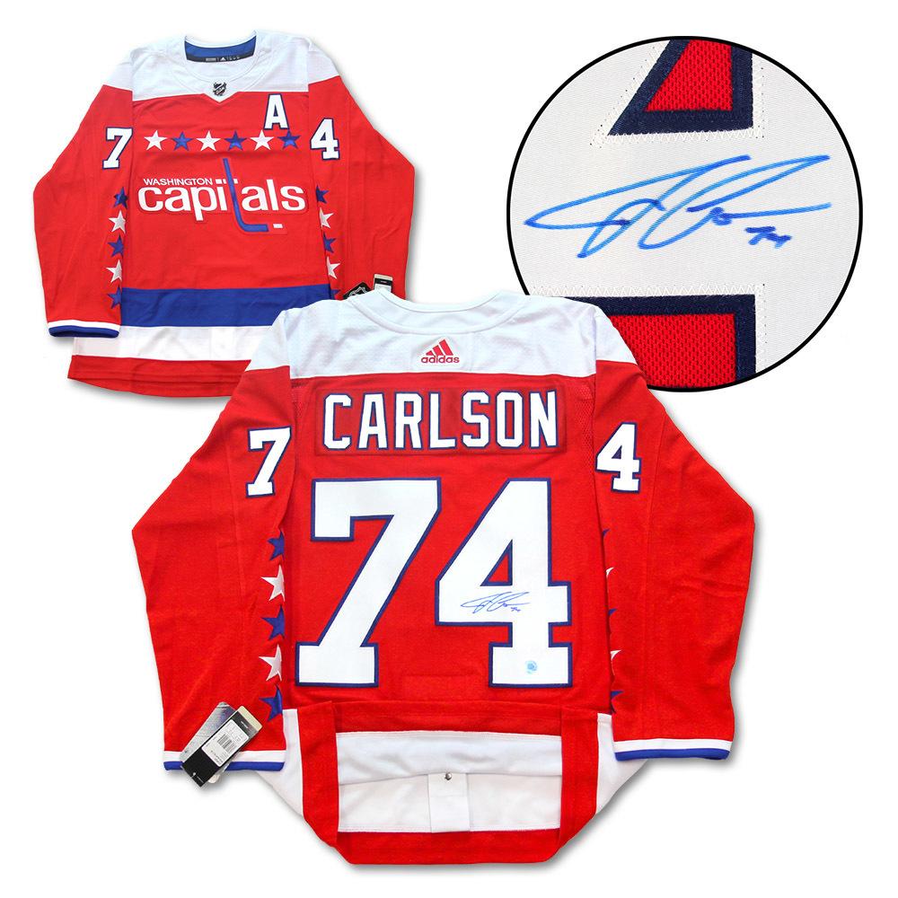 John Carlson Washington Capitals Signed Retro ALT Adidas Authentic Hockey Jersey