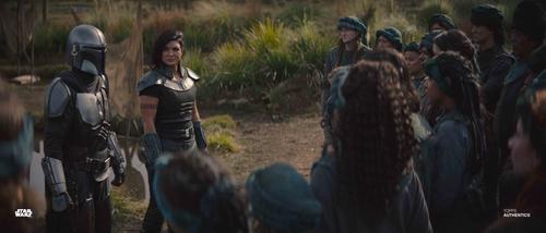 The Mandalorian, Cara Dune and Villagers