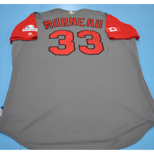 Photo of 2017 World Baseball Classic Game-Used Jersey - Justin Morneau - Canada (Size 52)