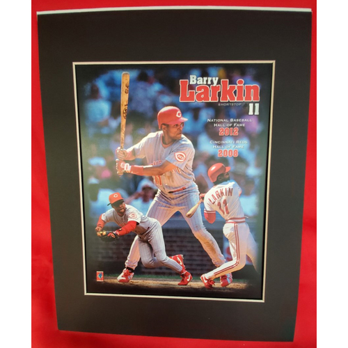 Photo of Matted Barry Larkin 2 Halls of Fame - 11x14