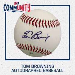 Photo of Tom Browning Autographed Baseball