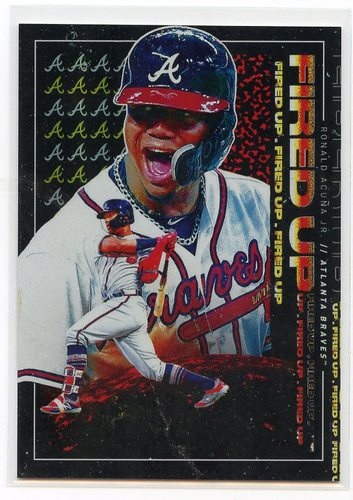 Photo of 2019 Topps Fire Fired Up #FIU12 Ronald Acuna Jr.