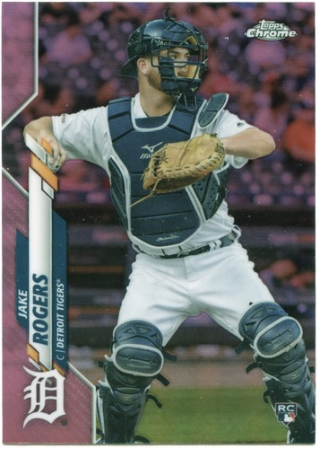 Photo of 2020 Topps Chrome Pink Refractors #47 Jake Rogers