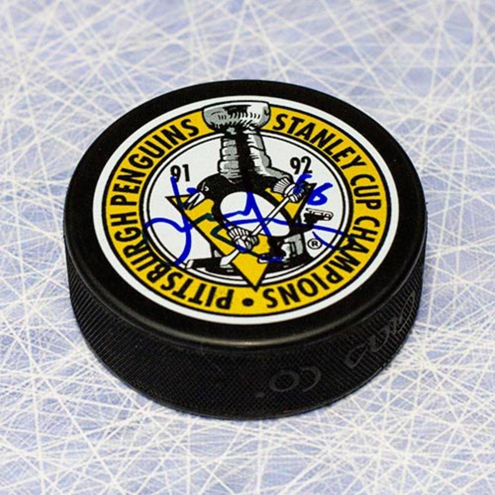 Jaromir Jagr Pittsburgh Penguins Autographed Stanley Cup Champions Puck