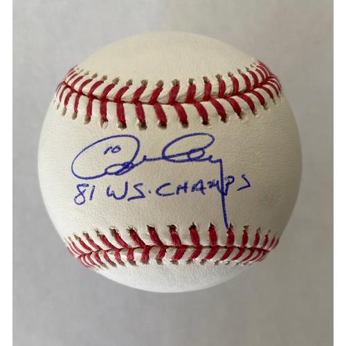 "Photo of Ron Cey ""1981 WS Champs"" Autographed Baseball"
