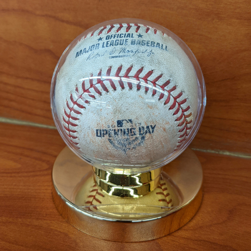 Photo of April 5, 2018 Red Sox vs. Rays Opening Day Game Used Baseball