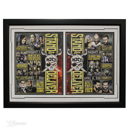 Photo of Dual Framed SIGNED and NUMBERED NXT TakeOver Stand & Deliver Fight Cards Night 1 and Night 2 (Random Number)