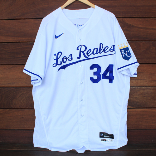 Photo of Game-Used Los Reales Jersey: Larry Carter #34 (SEA@KC 9/17/21) - Size 52