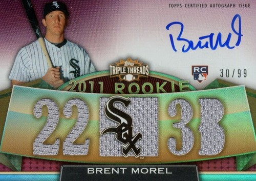Photo of 2011 Topps Triple Threads #134 Brent Morel Jsy AU RC