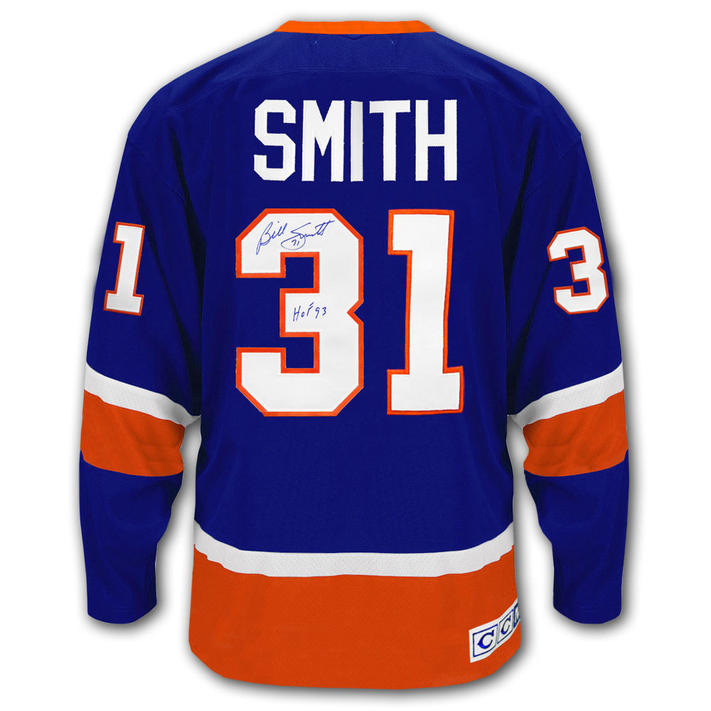 Billy Smith New York Islanders CCM Autographed Jersey