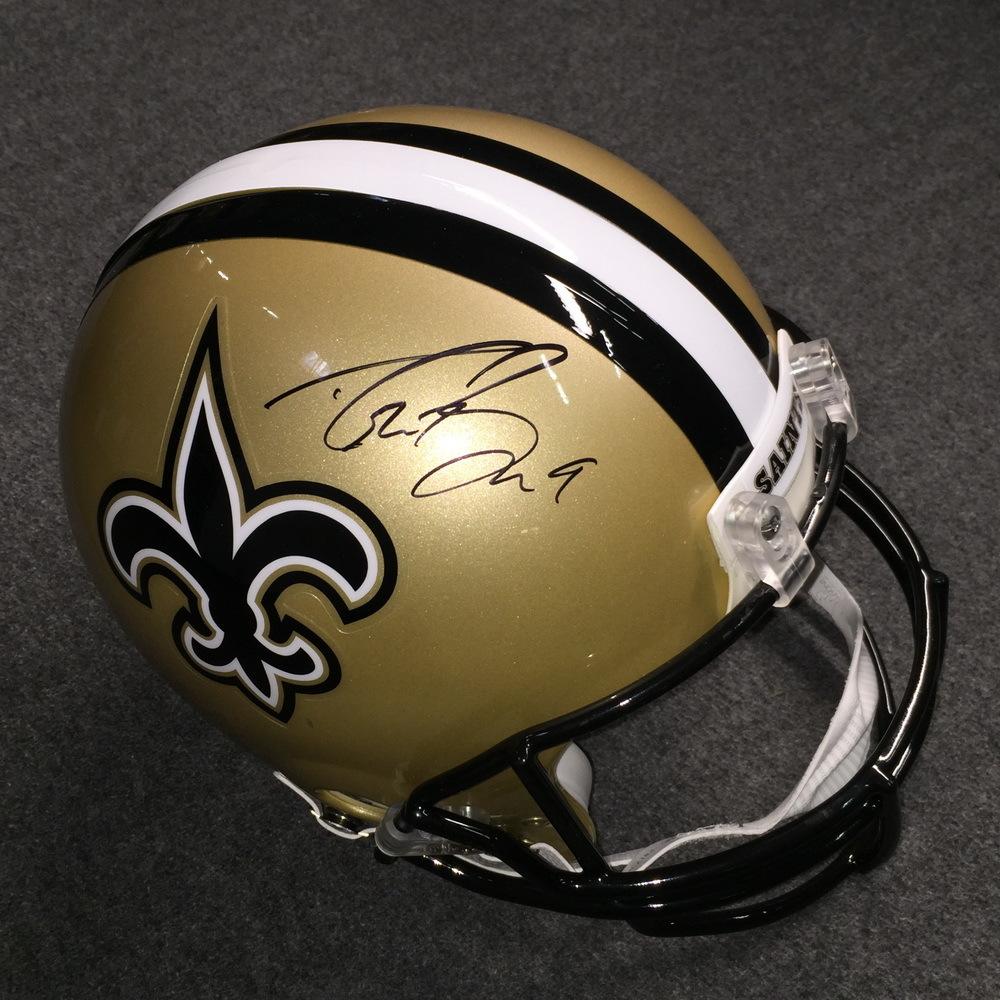 fb66574bc PCC - Saints Drew Brees signed Saints proline helmet