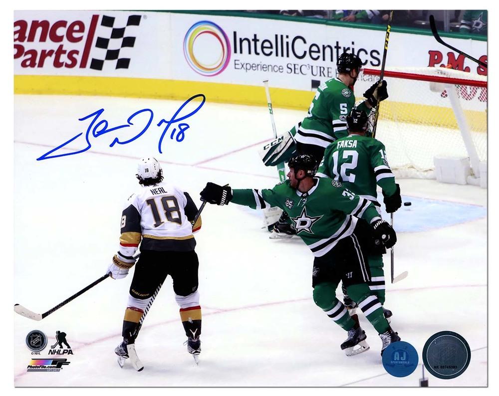 James Neal Vegas Golden Knights Autographed 1st Vegas Goal 8x10 Photo