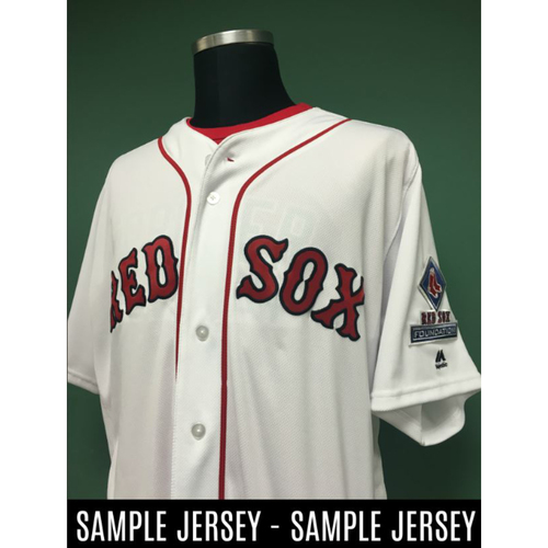 Photo of Red Sox Foundation Game Day - Steven Wright Team-Issued or Game-Used and Autographed Jersey (Pre-Game Sale)