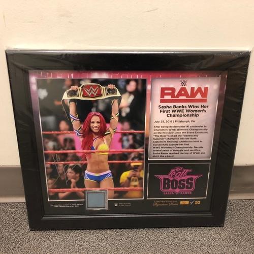 Photo of Sasha Banks SIGNED RAW Signature Series Ring Canvas Plaque (#10 of 10)