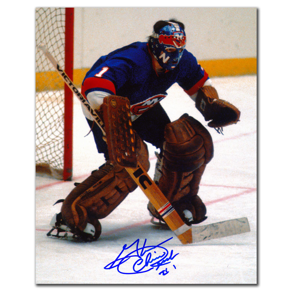 Glenn Chico Resch New York Islanders ACTION Autographed 8x10