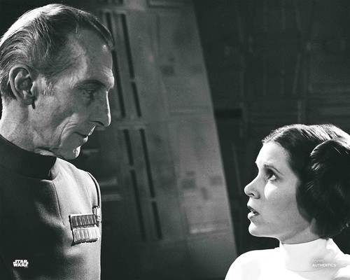 Princess Leia Organa and Grand Moff Tarkin