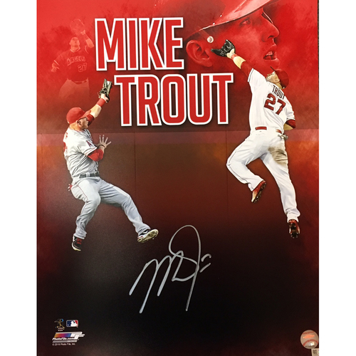 Photo of Mike Trout Autographed 16x20 - Collage