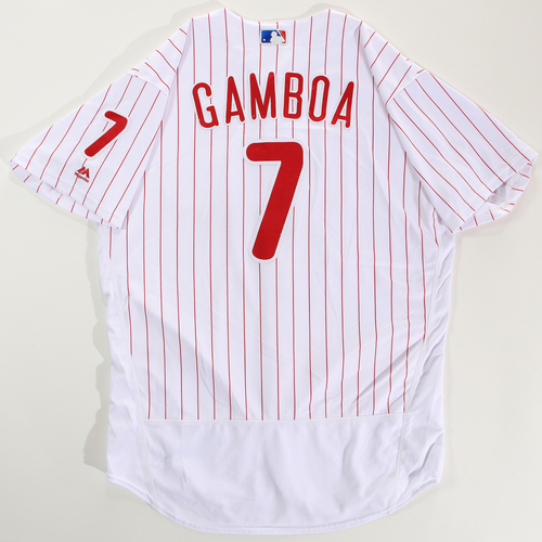 Photo of 2018 Arizona Fall League Game-Used Jersey - Arquimedes Gamboa -Size 48
