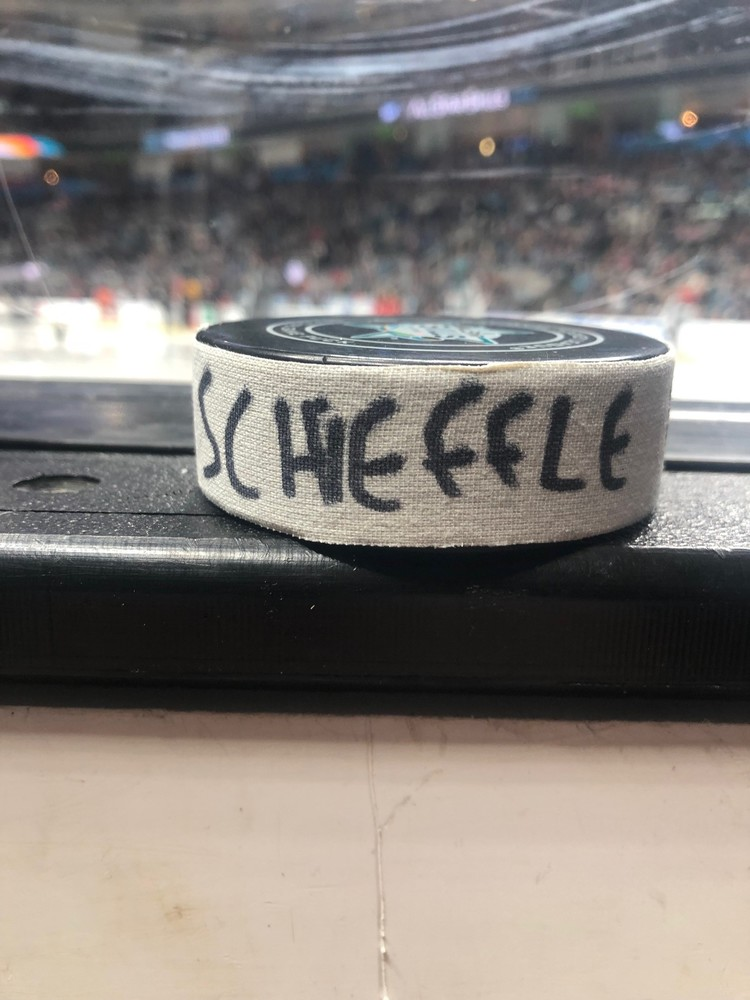Mark Scheifele Winnipeg Jets Central Division Gatorade NHL Puck Control Event-Used Puck - Second Shot
