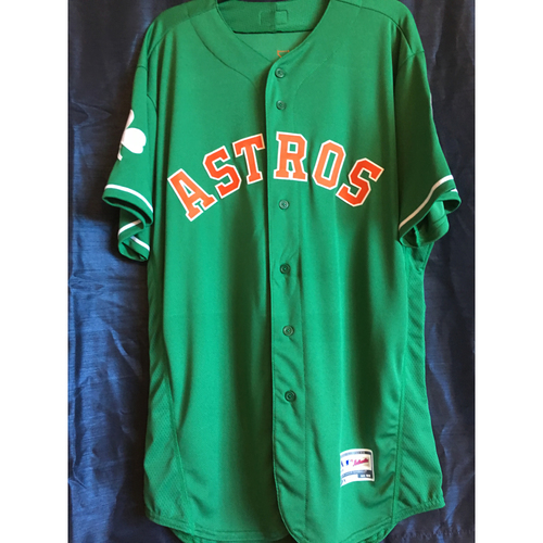 Photo of Wade Miley 2019 Team-Issued St. Patrick's Day Jersey (Size 48)