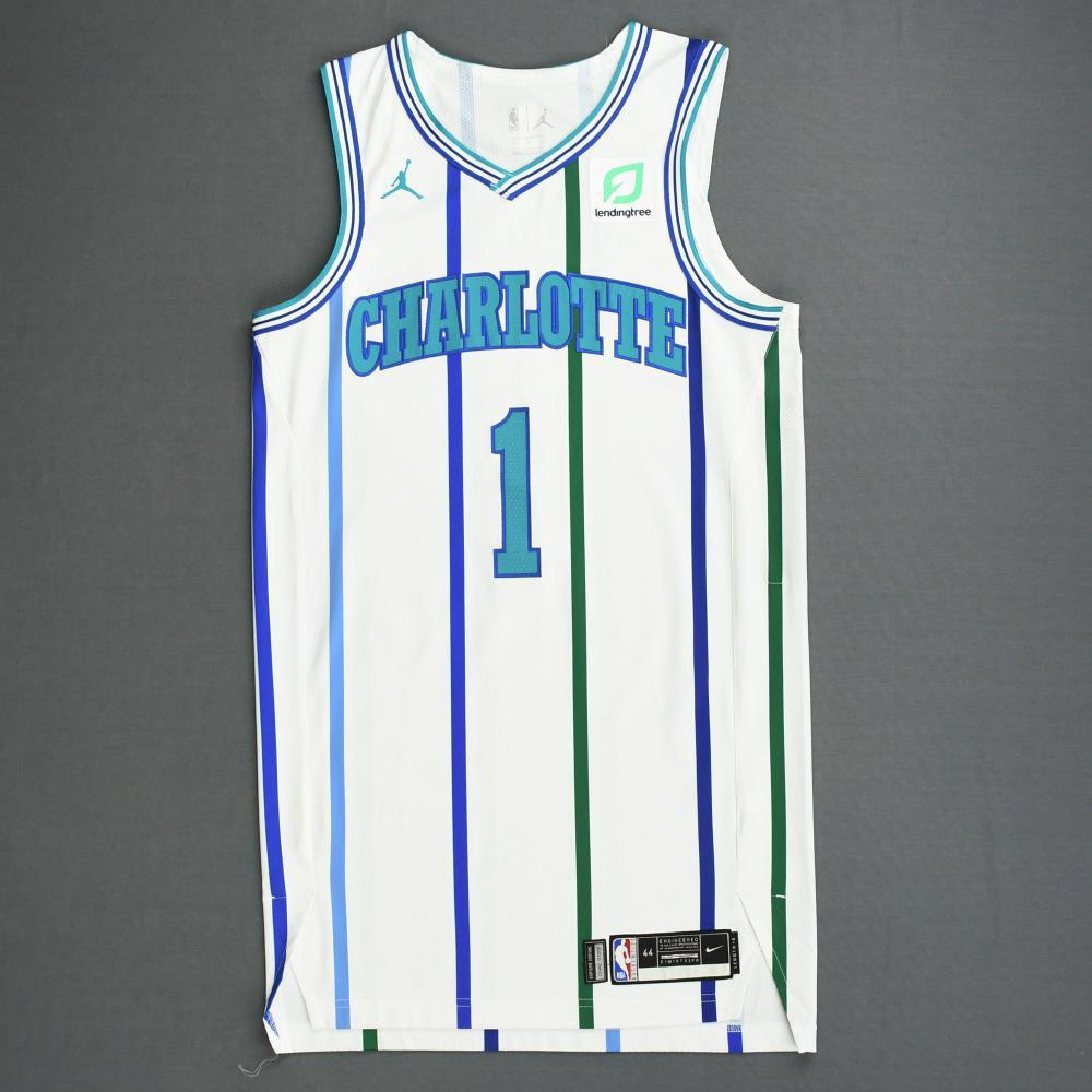 Malik Monk - Charlotte Hornets - 2018-19 Season - Game-Worn White Classic Edition 1988-97 Home
