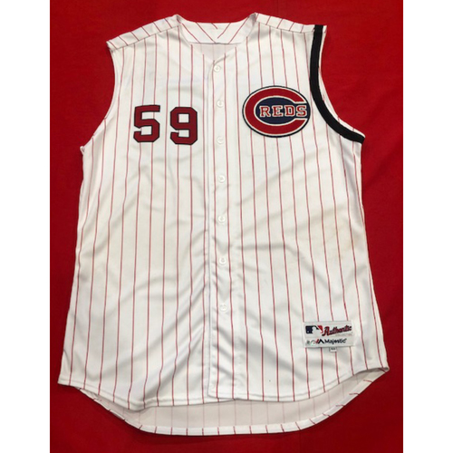 Ryan Lavarnway -- 1961 Throwback Jersey (Starting C) -- Cardinals vs. Reds on July 21, 2019 -- Jersey Size 48
