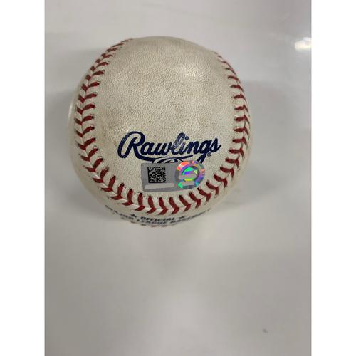Photo of Game Used Baseball: Yu Chang's MLB Debut - Pitcher: Adam Plutko, Batters: Chance Sisco, Dwight Smith Jr., Trey Mancini, - 6/28/19 vs BAL