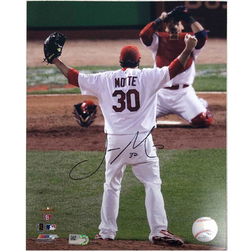 Photo of Cardinals Authentics: St. Louis Cardinals Jason Motte Autographed Photo