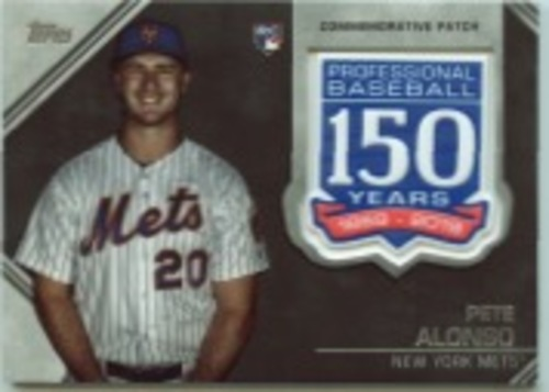 Photo of 2019 Topps Update 150th Anniversary Manufactured Patches #AMPPA Pete Alonso
