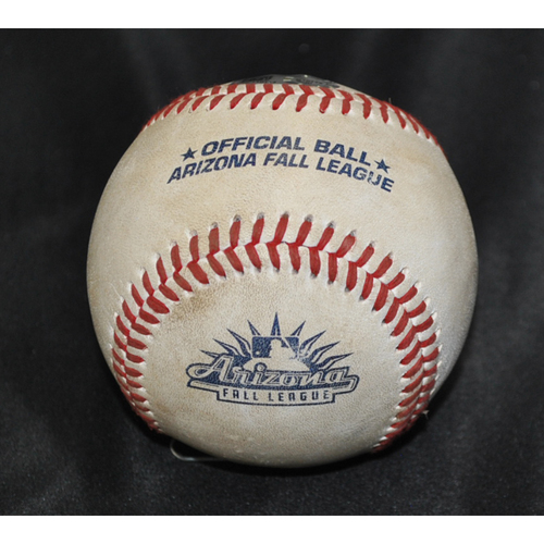 Photo of Game-Used Baseball: 2019 Arizona Fall League - Pitcher: Daniel Lynch (KC), Batter: Luke Raley (MIN) - Hit by Pitch - Top 2 - 10/26/2019