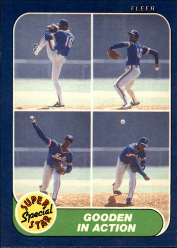 Photo of 1986 Fleer #626 Dwight Gooden IA
