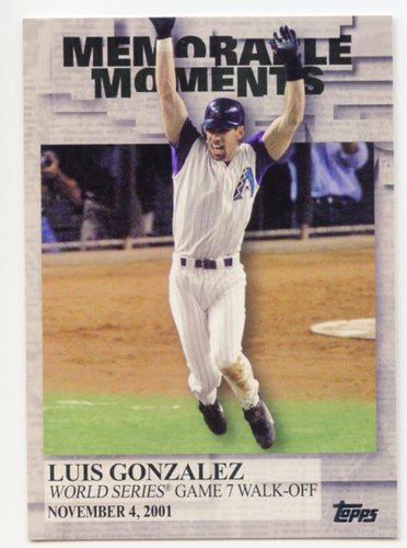 Photo of 2017 Topps Memorable Moments #MM21 Luis Gonzalez
