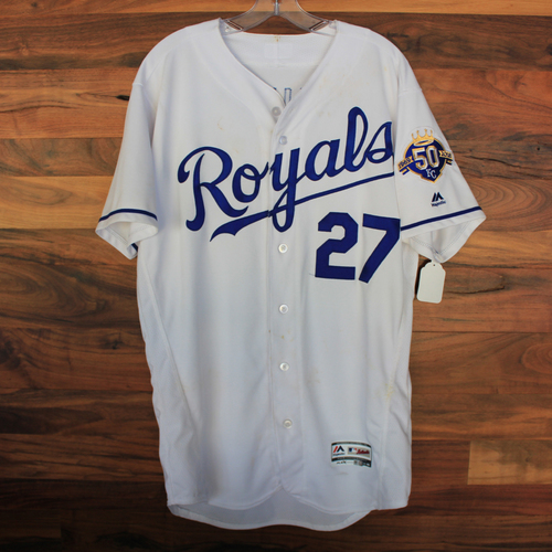 Photo of Game-Used Jersey: Adalberto Mondesi Single (Size 44 - MIN @ KC - 9/15/18)