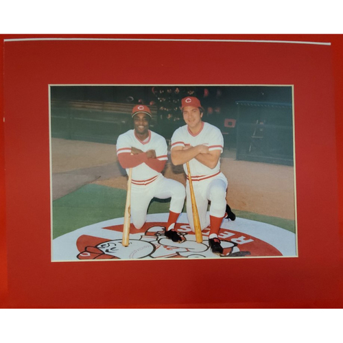 Photo of Matted Johnny Bench and Joe Morgan - 11x14