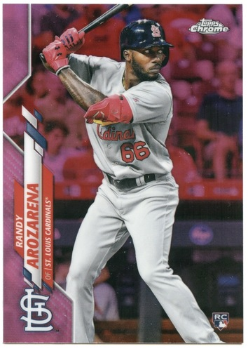 Photo of 2020 Topps Chrome Pink Refractors #49 Randy Arozarena
