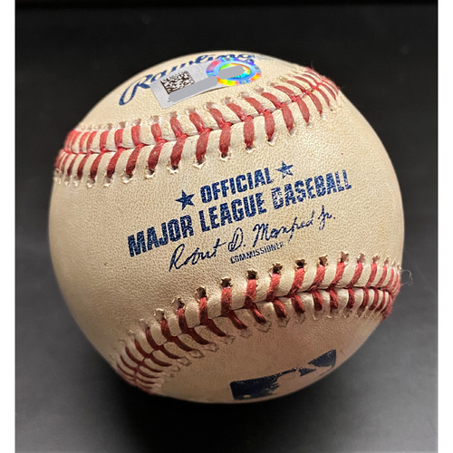 Photo of Game-Used Baseball: Brady Singer Kansas City Royals Pitched Ball 7/30/20 (MLB AUTHENTICATED)