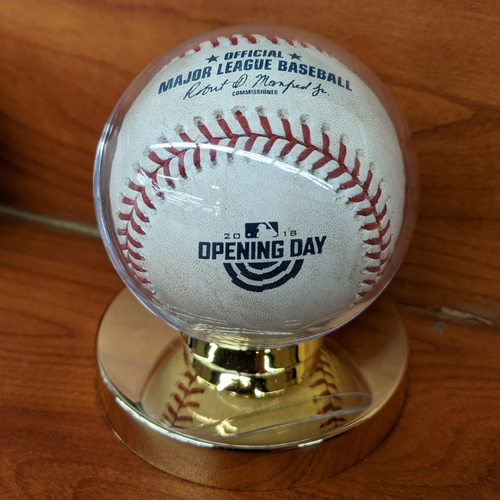 April 5, 2018 Red Sox vs. Rays Opening Day Game Used Baseball