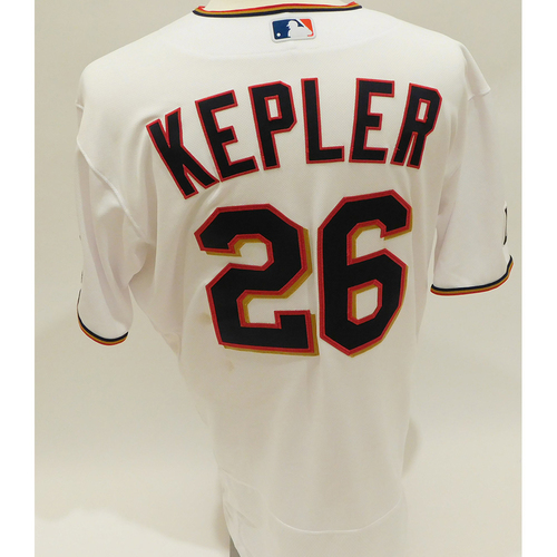 Photo of Minnesota Twins: 2021 Game-Used Jersey - Max Kepler - White Sox at Twins: Home White Kepler Jersey 2-3 with 2 Homeruns, 3 Runs Scored and 3 RBI