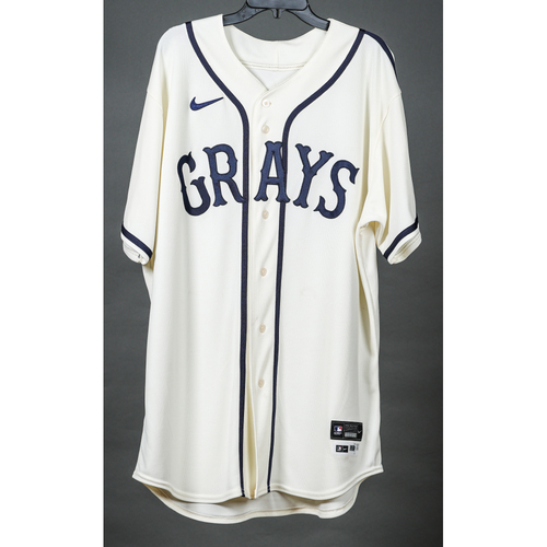 Photo of Game-Used Homestead Grays Jersey - Luis Oviedo - PIT vs. STL - 8/27/2021
