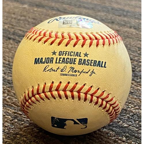 Photo of Austin Hays: Baseball - Game Used (RBI Single - 5/18/21 vs. Rays)