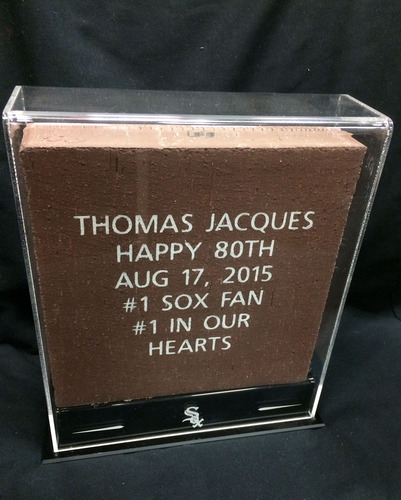 White Sox Charities: 8 x 8 Brick Display Case