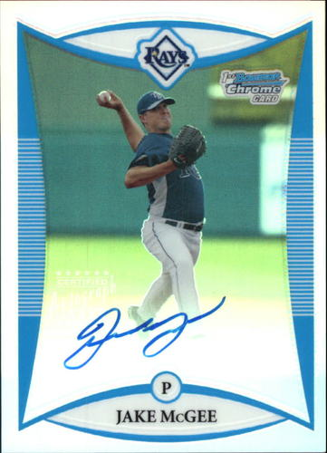 Photo of 2008 Bowman Chrome Prospects Refractors #BCP274 Jake McGee AU