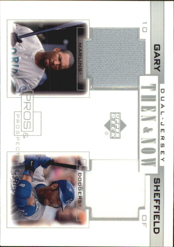 Photo of 2001 Upper Deck Pros and Prospects Then and Now Game Jersey #TNGS Gary Sheffield