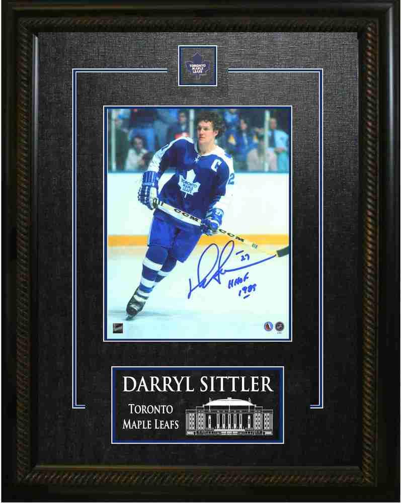 Darryl Sittler - Signed & Framed 8x10 Etched Mat - Toronto Maple Leafs