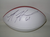 CHARGERS - NICK HARDWICK SIGNED PANEL BALL