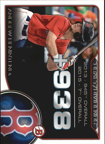 Photo of 2015 Bowman Draft Draft Dividends #DDAB Andrew Benintendi -- Red Sox post-season