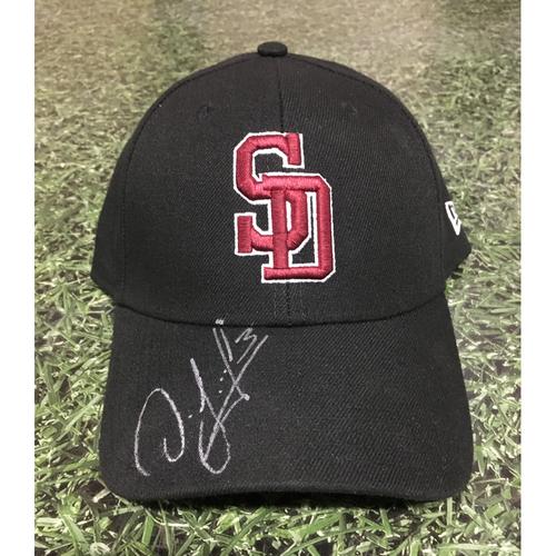 Photo of Orlando Arcia Autographed, Team-Issued Stoneman Douglas Eagles Cap