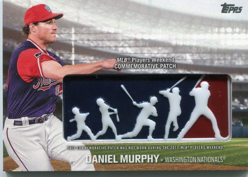 Photo of 2018 Topps Players Weekend Patches #PWPDM Daniel Murphy